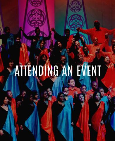 Attending an event